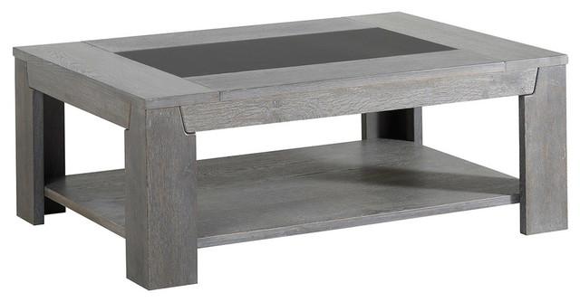 Titan Gray French Oak Coffee Table