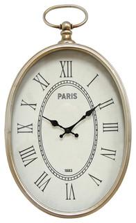 Stratton Home Decor Elegant Wall Clock Traditional Wall Clocks By Ami Ventures Inc