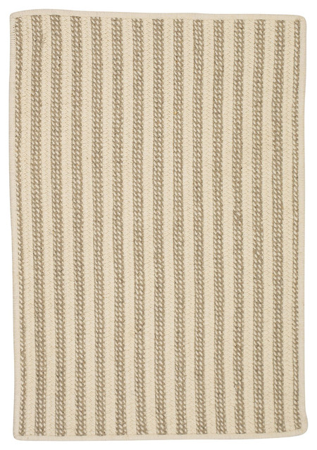 Woodland Rect Ol13 Natural Braided Rug Farmhouse Area