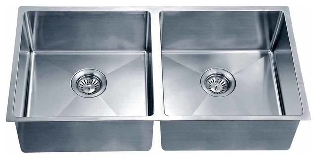 Dawn Undermount Small Corner Radius Equal Double Bowl Sink