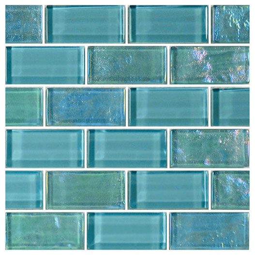 "Turquoise Tile 12""x12"" glass tile blends twilight series - modern - mosaic tile"