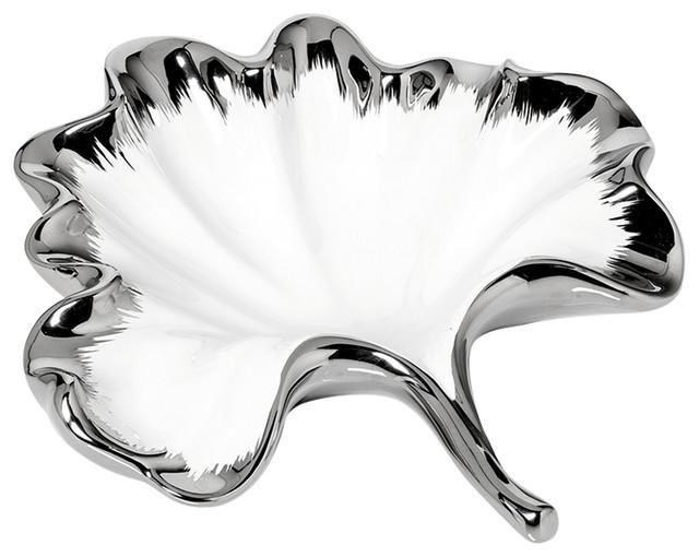 White Leaf Dish