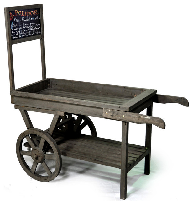Wooden retail display cart with chalkboard contemporary for Where can i buy vintage furniture