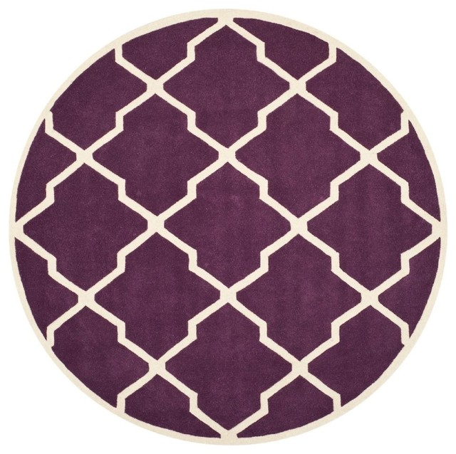 Contemporary chatham area rug contemporary area rugs for Purple area rugs contemporary