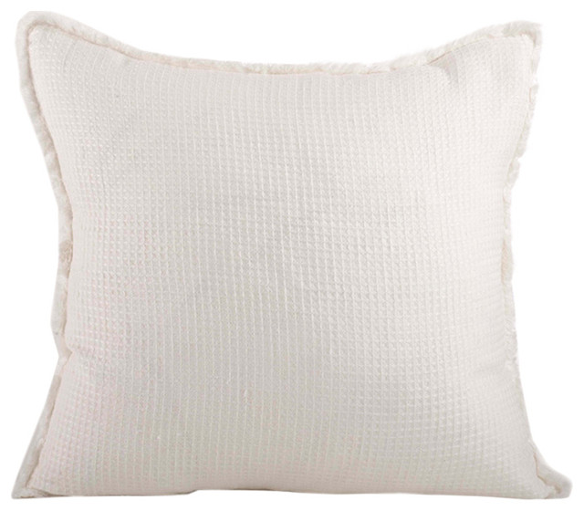 Fenncostyles.com - L excellence Waffle Weave Down Filled Throw Pillow, 20