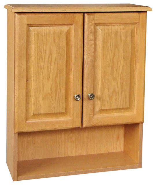 "Claremont 21""x26"" Cab Oak 2 Door Honey Oak Finish."