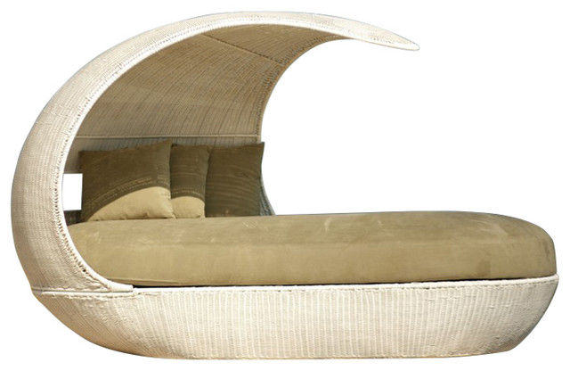 Shell Daybed With Seat Cushion, Neo Golden Brown, Navy