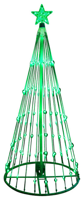 Led Light Show Cone Christmas Tree Lighted Yard Art Decoration Green 6