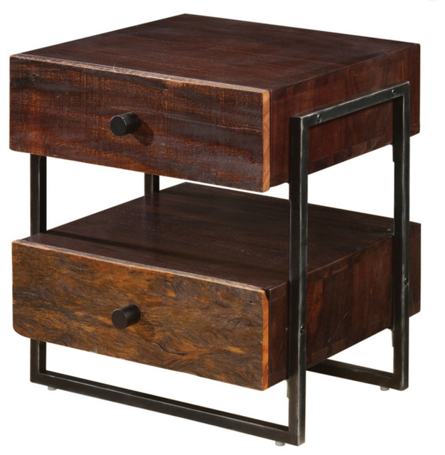 Parker Industrial End Table Contemporary Side Tables And End Tables