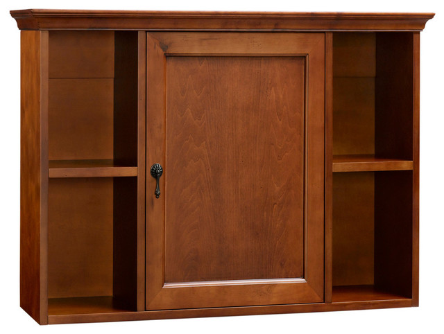 Traditional Bathroom Wall Cabinet, Colonial Cherry - Transitional - Medicine Cabinets - by ...