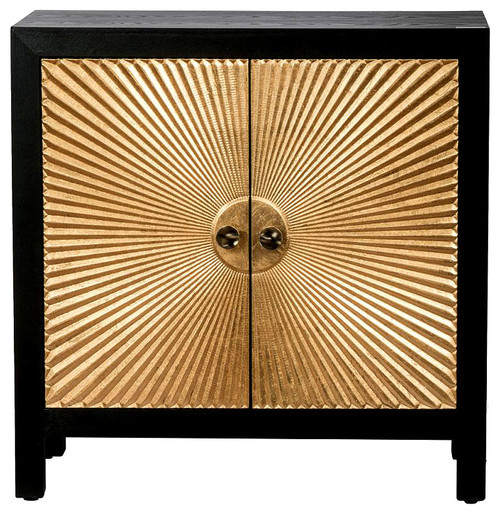 Sunburst Design Wooden Cabinet 31.5x15.5x32