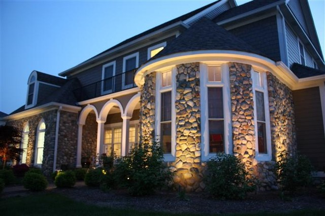 Outdoor stone wall lighting traditional exterior indianapolis outdoor stone wall lighting traditional exterior aloadofball Images
