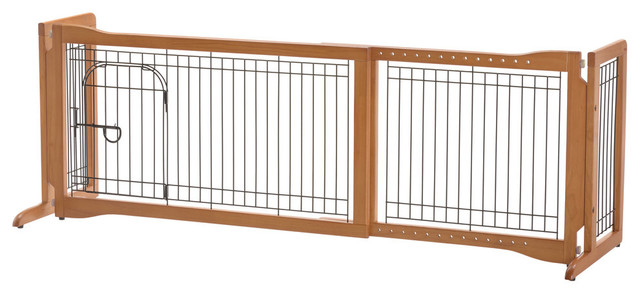 Pet Sitter Freestanding Gate Plus Contemporary Dog