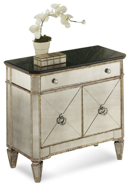 Emma Mason Signature Mirrored Granite Top Chest Bas0009 Transitional Accent Chests And Cabinets By