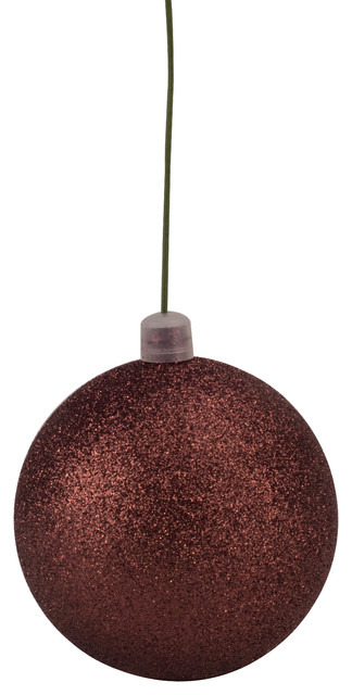 Queens of Christmas 3 Wire 80mm Green Glitter Ball Ornament