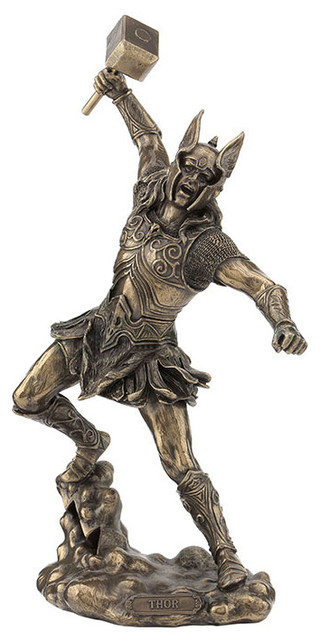 Thor Norse God Of Thunder Myth And Legend Statue Traditional Decorative Objects And Figurines By Xoticbrands Home Decor