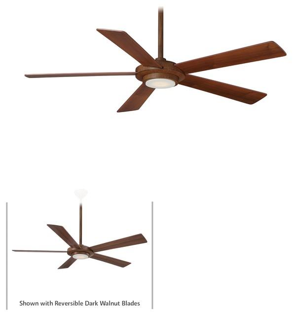 "Minka Aire Sabot Distressed Koa 52"" Ceiling Fan."