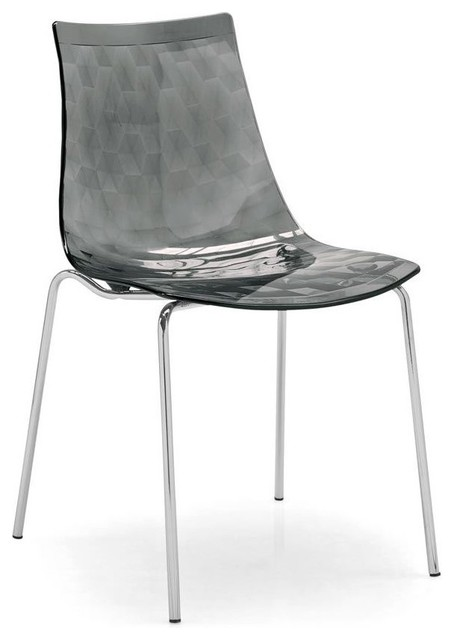Calligaris ice metal and plastic chair modern dining chairs by