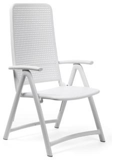 Shop Houzz Nardi Darsena High Back Folding Chairs Set