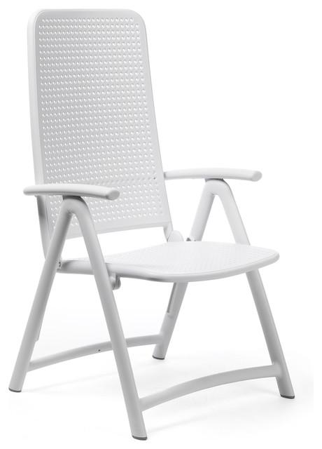 High Back Folding Lawn Chairs.Darsena High Back Folding Chairs Set Of 2 White