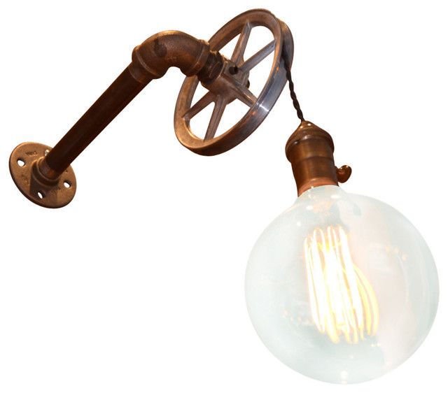 1 Light Pulley Wall Light Industrial Wall Sconces