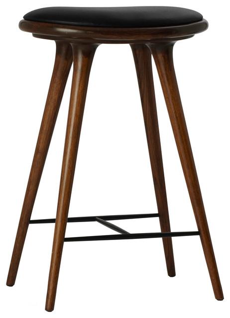 Super Mater Counter Stool Dark Brown Oak Black Leather Seat Ncnpc Chair Design For Home Ncnpcorg