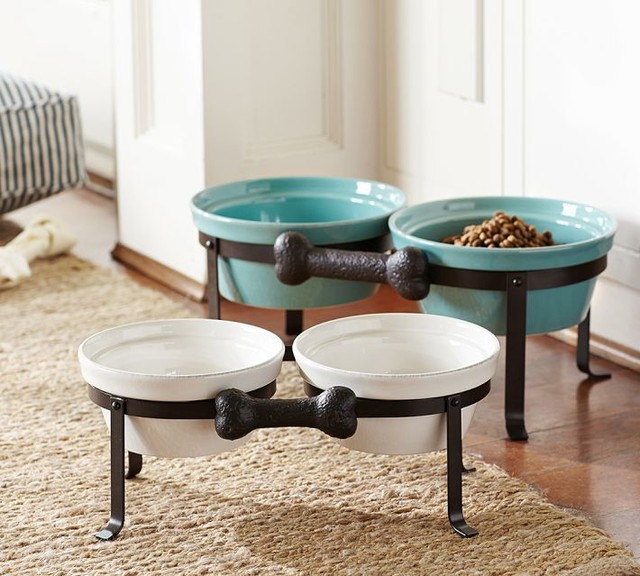 Cambria Pet Bowl Amp Stand Contemporary Pet Bowls And