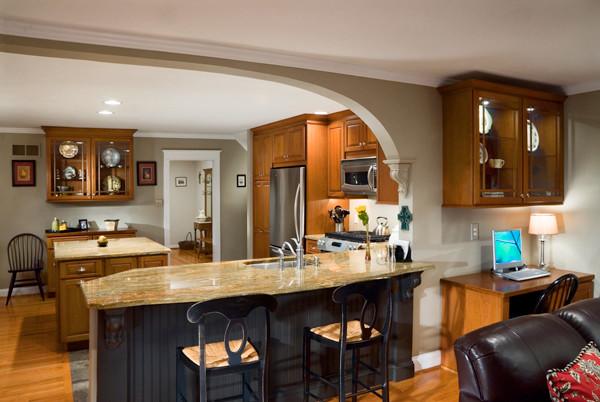 Additional Seating Craftsman Kitchen Philadelphia