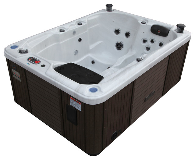 Quebec Plug U0026 Play 29 Jet 3 4 Person Hot Tub, LED Lighting And