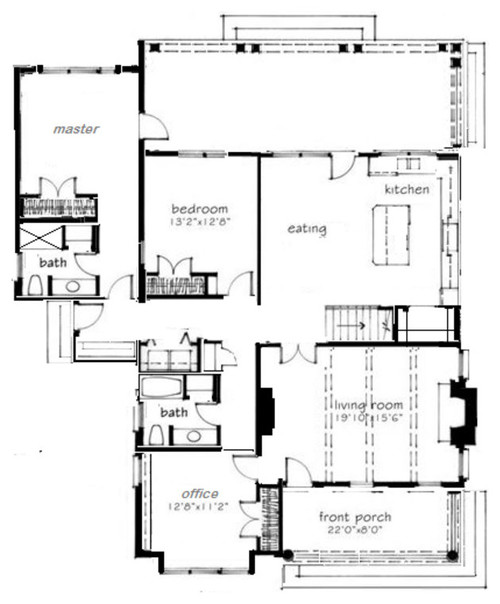 House Plans With All Bedrooms Together - 45degreesdesign.com ...