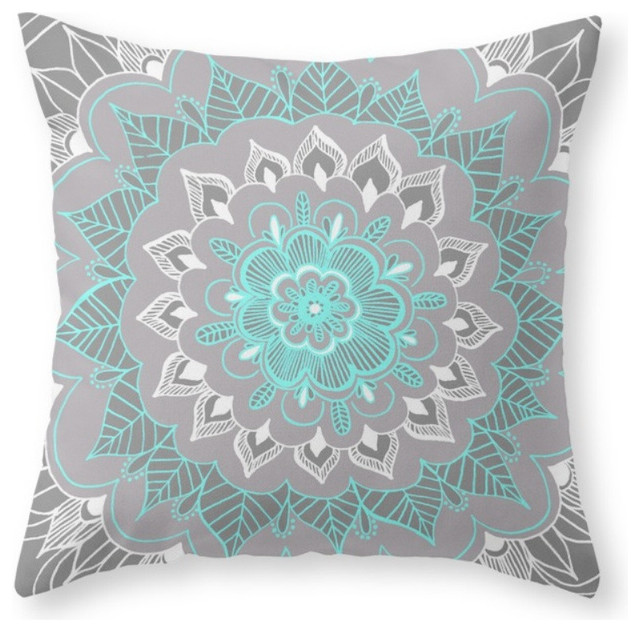 Bubblegum Lace Throw Pillow - Contemporary - Decorative Pillows - by Society6