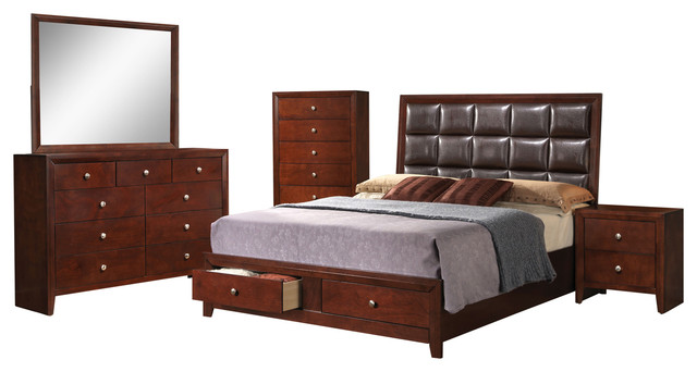 ilana 4 piece bedroom set bedroom furniture sets by acme furniture