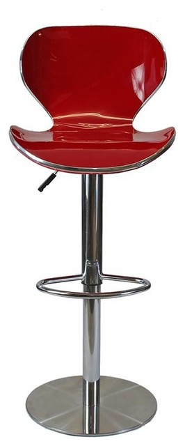 Coquillon Adjustable Swivel Bar Stool, Bordeaux Red