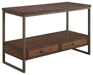 Bowery Hill Storage Console Table, Light Brown