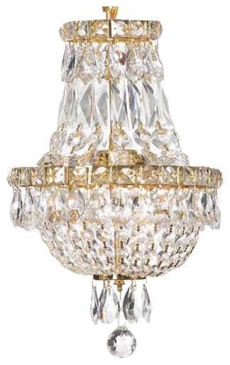 """French Empire Crystal Chandelier Chandelier 3-Light, 15""""x11"""""""
