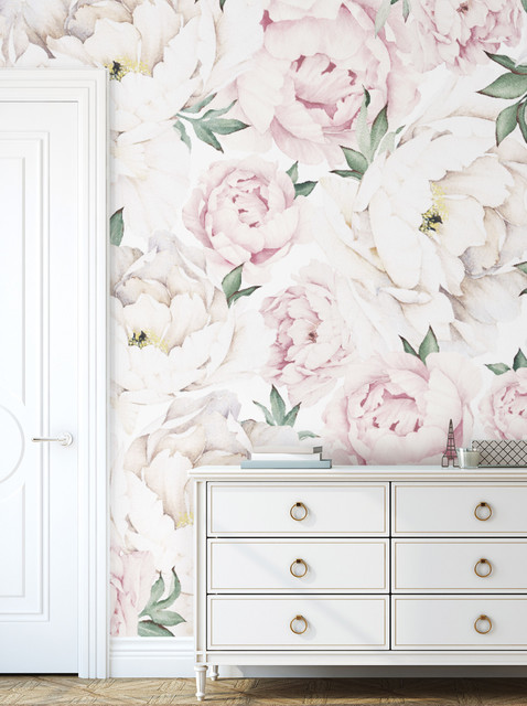 Peony Flower Mural Wall Art Wallpaper Peel And Stick
