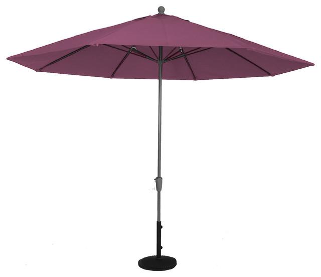 Luxe Shade Grenada Octagonal 11&x27; Market Patio Umbrella, Iris.