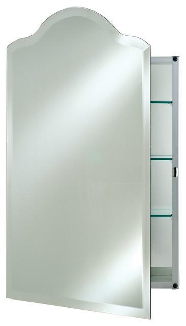 Scallop Top Frameless Medicine Cabinets