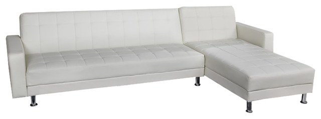 Frankfort Convertible Sectional Sofa Bed - Contemporary - Sectional ...