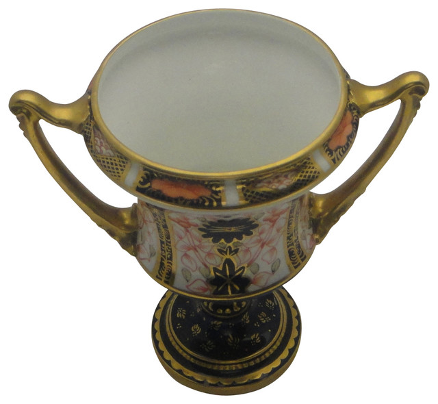 Royal Crown Derby Old Imari Miniature Urn Traditional Home Decor