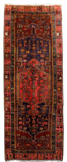 Consigned, Persian Rug, 4&x27;x10&x27;, Handmade Wool Ardebil.
