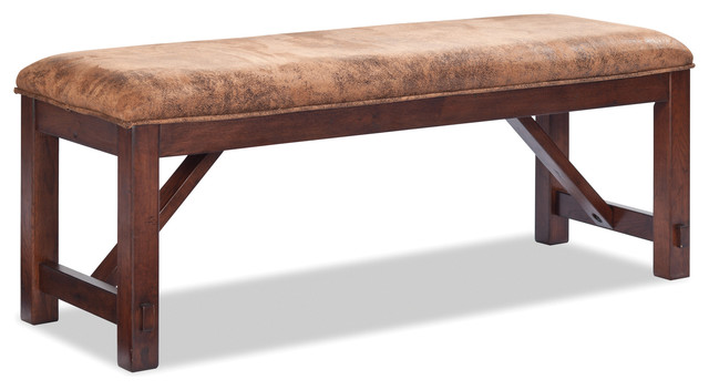 Imagio Creek Backless Bench, Rusty Pine Finish. -1