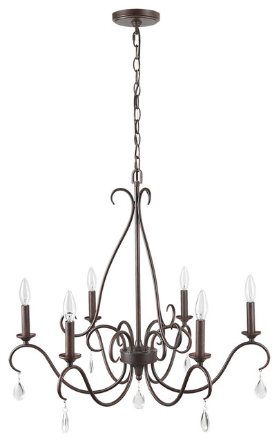 LNC  5-Light Chandeliers French Country Crystal Waterdrop Adjustable Light