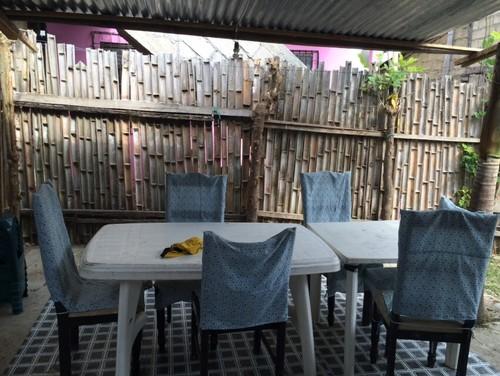 Jardín familiar madera y bambu