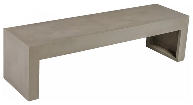 Co9 Design Hoboken Concrete Backless Bench Modern