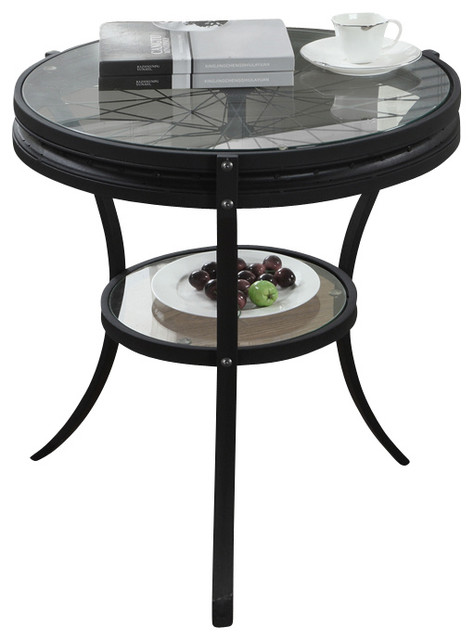 kitchen cabinets houzz hammered black 20 inch accent table with tempered 20522