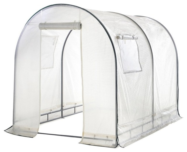 Abba Patio 6x6.6x8&x27; Walk-In, Fully Enclosed, Greenhouse With Windows, White.