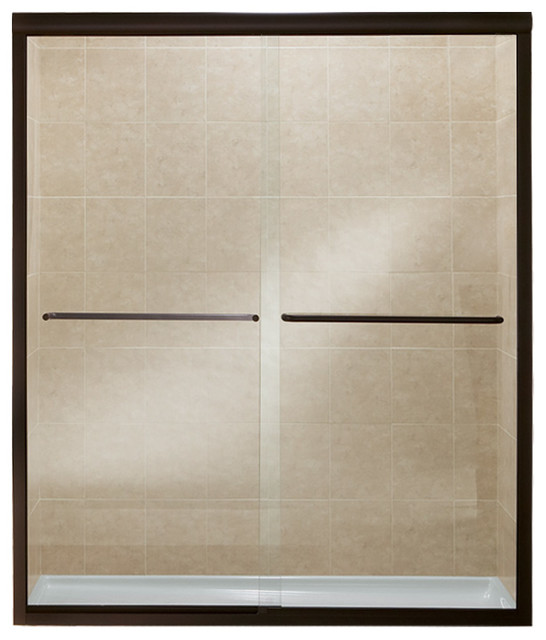 "Sterling, Shower Door, Deep Bronze With Clear Glass, 59.63""x2.5""x76"""
