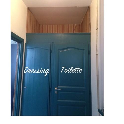 Besoin de vos id es d co pour mon entr e et mon salon - Porte peinte en deux couleurs ...