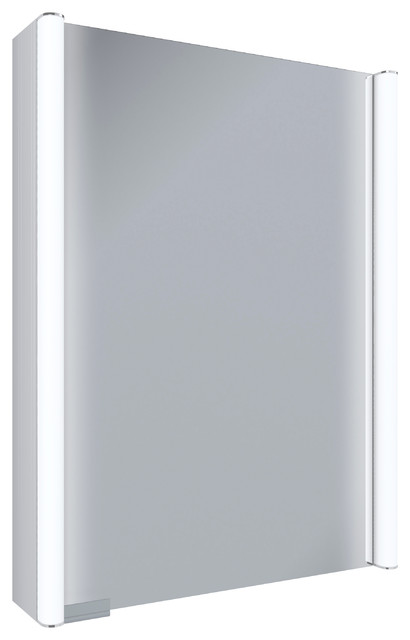 "Ella Contemporary Illuminated Led Medicine Cabinet Mirror, 21""."